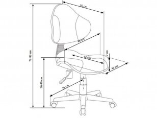 Biuro kėdė FLASH-2